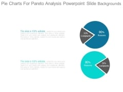 Pie Charts For Pareto Analysis Powerpoint Slide Backgrounds