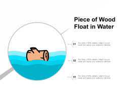 Piece Of Wood Float In Water Ppt PowerPoint Presentation Slides Ideas