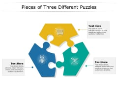 Pieces Of Three Different Puzzles Ppt PowerPoint Presentation Infographic Template Show PDF