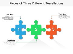 Pieces Of Three Different Tessellations Ppt PowerPoint Presentation Outline Backgrounds PDF