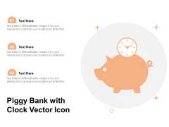 Piggy Bank With Clock Vector Icon Ppt PowerPoint Presentation Professional Graphics Design PDF
