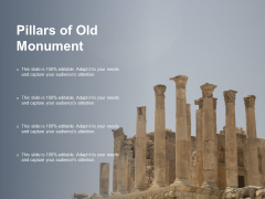 Pillars Of Old Monument Ppt PowerPoint Presentation Infographics Rules Cpb