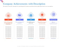 Pitch Deck For Fund Raising From Series C Funding Company Achievements With Description Themes PDF