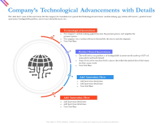 Pitch Deck For Fund Raising From Series C Funding Companys Technological Advancements With Details Summary PDF