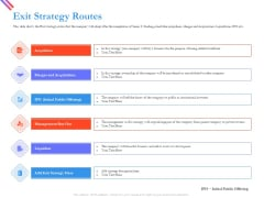 Pitch Deck For Fund Raising From Series C Funding Exit Strategy Routes Graphics PDF