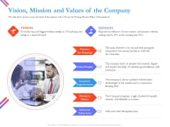 Pitch Deck For Fund Raising From Series C Funding Vision Mission And Values Of The Company Slides PDF