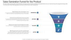 Pitch Deck For Fundraising From Angel Investors Sales Generation Funnel For The Product Ppt Gallery Model PDF