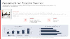 Pitch Deck For Fundraising From Post Market Financing Operational And Financial Overview Professional PDF