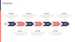 Pitch Deck For Fundraising From Post Market Financing Timeline Mockup PDF