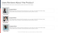 Pitch Deck For Fundraising From Post Market Financing Users Reviews About The Product Diagrams PDF