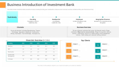 Pitch Deck For General Advisory Deal Business Introduction Of Investment Bank Rules PDF