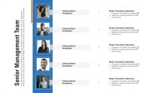 Pitch Deck For Procurement Deal Senior Management Team Ppt Summary Format Ideas PDF