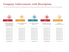 Pitch Deck For Raising Capital For Inorganic Growth Company Achievements With Description Summary PDF