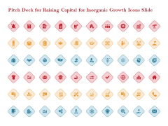 Pitch Deck For Raising Capital For Inorganic Growth Icons Slide Icons PDF