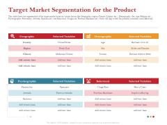 Pitch Deck For Raising Capital For Inorganic Growth Target Market Segmentation For The Product Introduction PDF