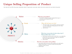 Pitch Deck For Raising Capital For Inorganic Growth Unique Selling Proposition Of Product Icons PDF