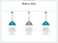 Pitch Deck For Raising Funds From Product Crowdsourcing Bulb Or Idea Guidelines PDF