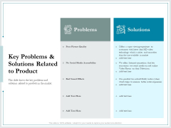 Pitch Deck For Raising Funds From Product Crowdsourcing Key Problems And Solutions Related To Product Information PDF