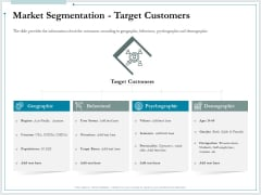 Pitch Deck For Raising Funds From Product Crowdsourcing Market Segmentation Target Customers Summary PDF