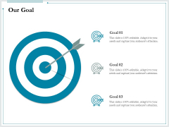 Pitch Deck For Raising Funds From Product Crowdsourcing Our Goal Information PDF