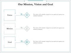 Pitch Deck For Raising Funds From Product Crowdsourcing Our Mission Vision And Goal Sample PDF