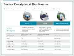 Pitch Deck For Raising Funds From Product Crowdsourcing Product Description And Key Features Topics PDF