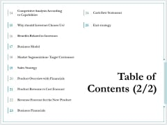 Pitch Deck For Raising Funds From Product Crowdsourcing Table Of Contents Strategy Clipart PDF