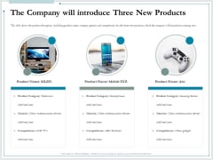 Pitch Deck For Raising Funds From Product Crowdsourcing The Company Will Introduce Three New Products Sample PDF
