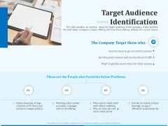 Pitch Deck For Seed Financing Target Audience Identification Ppt Layouts Outfit PDF