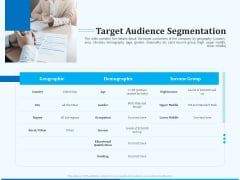 Pitch Deck For Seed Financing Target Audience Segmentation Ppt Model Tips PDF