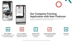 Pitch Deck For Seed Funding Our Company Forming Application With Their Features Formats PDF