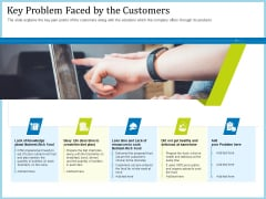Pitch Deck For Short Term Debt Financing Key Problem Faced By The Customers Graphics PDF