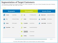 Pitch Deck For Short Term Debt Financing Segmentation Of Target Customers Graphics PDF