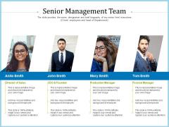 Pitch Deck For Short Term Debt Financing Senior Management Team Guidelines PDF