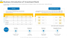 Pitch Deck For Venture Selling Trade Business Introduction Of Investment Bank Graphics PDF