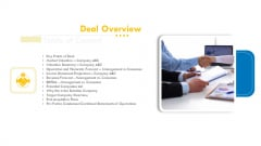 Pitch Deck For Venture Selling Trade Deal Overview Topics PDF