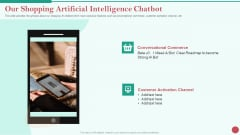 Pitch Deck Private Investor Our Shopping Artificial Intelligence Chatbot Introduction PDF