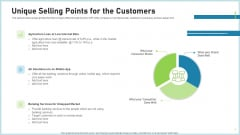 Pitch Deck To Attract Funding After IPO Market Unique Selling Points For The Customers Guidelines PDF