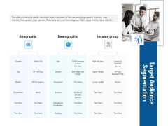 Pitch Deck To Collect Funding From Initial Financing Target Audience Segmentation Demonstration PDF