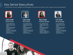 Pitch Deck To Gather Funding From Initial Capital Key Senior Executives Rules PDF