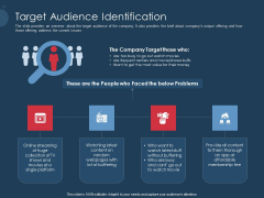 Pitch Deck To Gather Funding From Initial Capital Target Audience Identification Brochure PDF