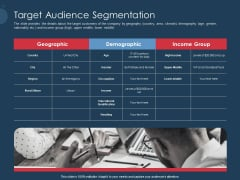 Pitch Deck To Gather Funding From Initial Capital Target Audience Segmentation Mockup PDF