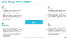 Pitch Deck To Procure Funds From Private Investor SWOT Analysis Of The Company Professional PDF