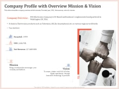 Pitch Deck To Raise Capital From Product Pooled Funding Company Profile With Overview Mission And Vision Designs PDF