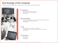 Pitch Deck To Raise Capital From Product Pooled Funding Exit Strategy Of The Company Introduction PDF
