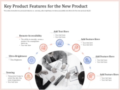 Pitch Deck To Raise Capital From Product Pooled Funding Key Product Features For The New Product Clipart PDF