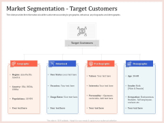 Pitch Deck To Raise Capital From Product Pooled Funding Market Segmentation Target Customers Brochure PDF