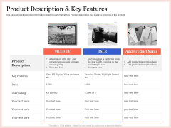 Pitch Deck To Raise Capital From Product Pooled Funding Product Description And Key Features Download PDF