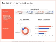Pitch Deck To Raise Capital From Product Pooled Funding Product Overview With Financials Diagrams PDF