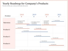 Pitch Deck To Raise Capital From Product Pooled Funding Yearly Roadmap For Companys Products Formats PDF